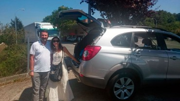 Parkin en Sarria a Peregrinos