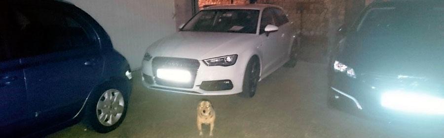 parking en sarria entrega en santiago peregrinotaxi marzo 2016