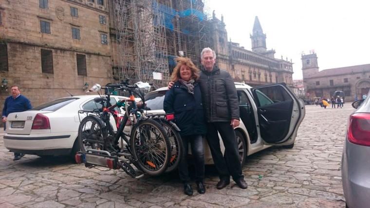 Transporte Bicicletas en el Camino de Santiago 2016